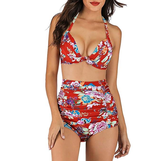 QinMMROPA Conjunto de Bikini brasileño Push up para Mujer ...
