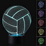 Best Night Light With Double Touches - 3D Illusion Volleyball Night Light Lamp with 7 Review