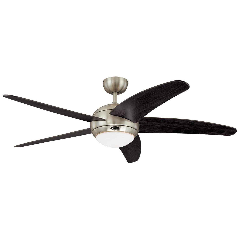 Amazon Bendan 52 Inch Satin Chrome Indoor Ceiling Fan