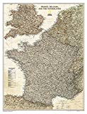 National Geographic: France, Belgium, and The Netherlands Executive Wall Map (23 x 30 inches) (National Geographic Reference Map)