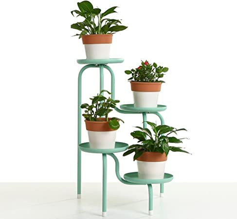 Li jing home Estante de Planta Stand para macetas/Estanteria para macetas en diseño de S/Escalera para macetas de Plantas y Flores con 4 Niveles/Color Blanco (Color : Green): Amazon.es: Hogar