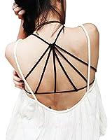 Perman Women's Sexy Padded Bra Crop Vest Cross Strap Bustier Beach Tank Tops