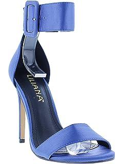LILIANA Golden Ankle Strap Satin Sandal c6YlLc3S