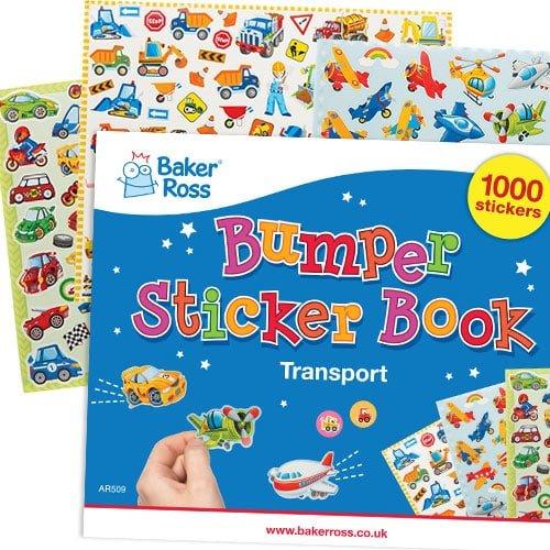 Baker Ross Pack Ahorro de Láminas de Pegatinas de Transportes - Perfectas para proyectos de Manualidades Infantiles (Pack de 1000)