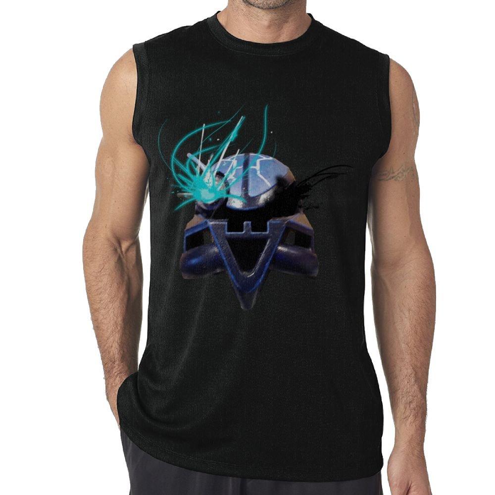 Oopp Jfhg Vest Sleeveless Shirts Fit Men Machine Helmet Blue Muscle