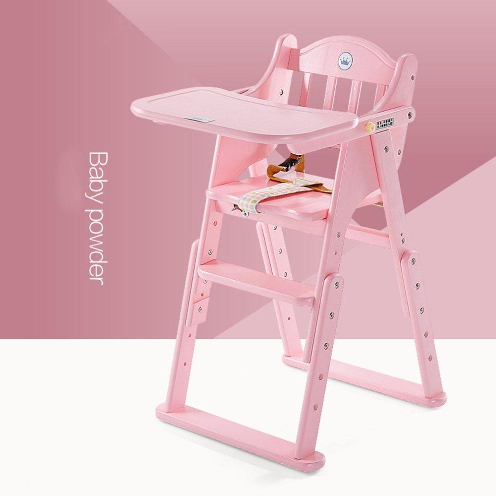 DD ソファスツール ベビーベビーチェアソリッドウッドポータブル折り畳み式マルチファンクションダイニングチャイルドシート (色 : Pink) B07MFHC26R Pink