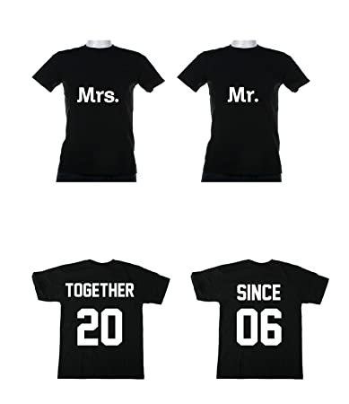 34f72f4d Amazon.com: Gildan Together Since Couples T- Shirts Love Marriage  Anniversary: Sports & Outdoors