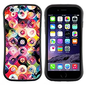 Pulsar iFace Series Tpu silicona Carcasa Funda Case para Apple (4.7 inches!!!) iPhone 6 / 6S (4.7 INCH) , Disque Vinyle Art Couleurs Motif rond
