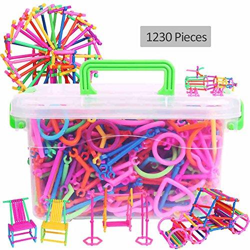 GGG Sticks intelligents Creative Assemblés Jouets éducatifs de construction en plastique nombre éducatif Bloc bricolage cadeau - 1230pcs