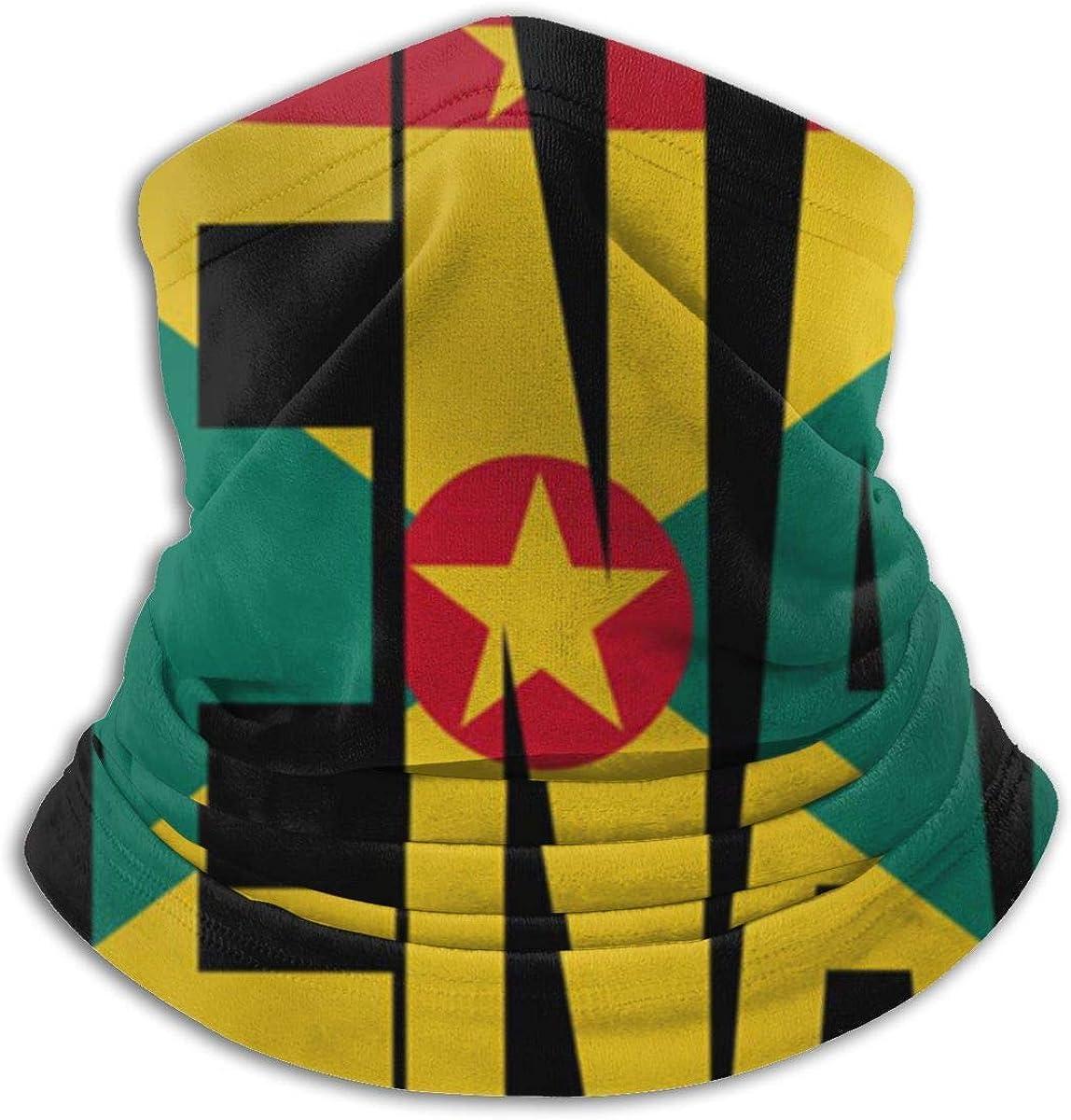 Polainas para el cuello con diseño de granada con bandera de ...