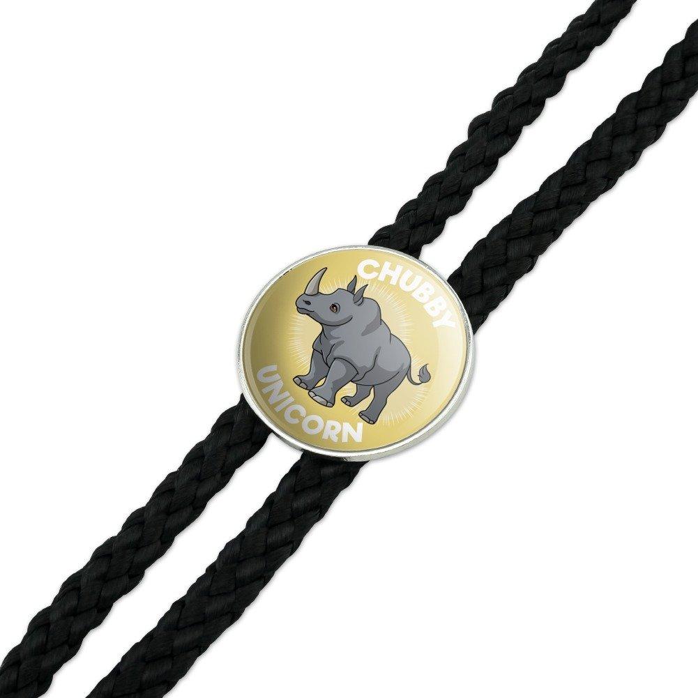 Chubby Unicorn Rhino Rhinoceros Western Southwest Cowboy Necktie Bow Bolo Tie