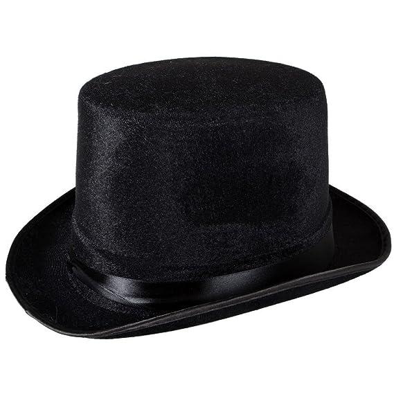 TaoNaisi Sombrero de copa negro terciopelo  Amazon.es  Ropa y accesorios 4fededa2aa1