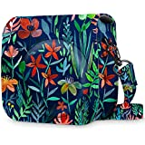 Fintie Protective Case for Fujifilm Instax Mini 8 Mini 8+ Mini 9 Instant Camera - Premium Vegan Leather Bag Cover with Removable Strap, Jungle Night (Official Micklyn Le Feuvre Product)