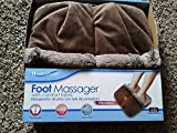 Health Touch Foot Massager With Comfort Fabric And Vibration (Brown)