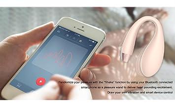 girl useing iphone as vibrator