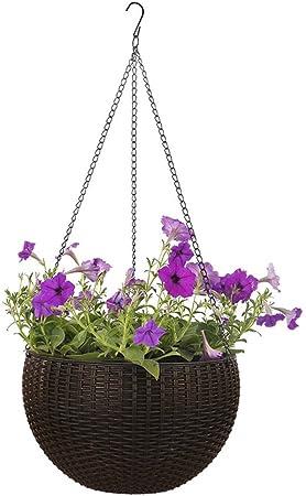 Suspendu Fleur Plante Pot chaîne panier jardiniere porte maison jardin balcon 40 cm