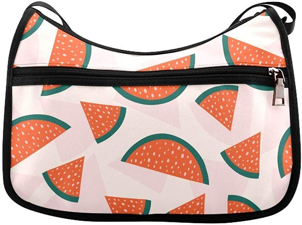 Delicious Slices Of Watermelon Messenger Bag Crossbody Bag Large Durable Shoulder School Or Business Bag Oxford Fabric For Mens Womens
