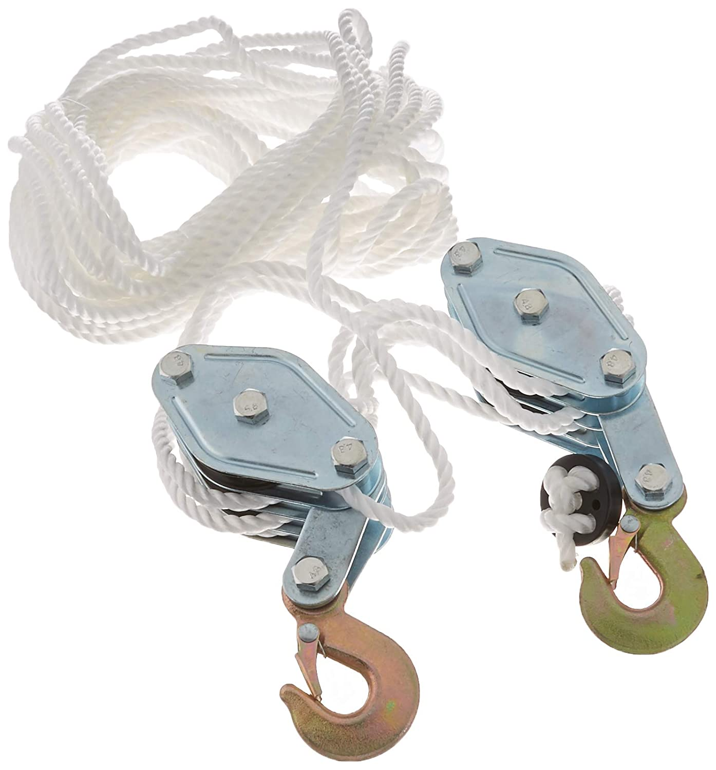 J&R Quality Tools B001Z0WELC 2048872 Generic Rope Pulley Block and Tackle Hoist EJMUSIC