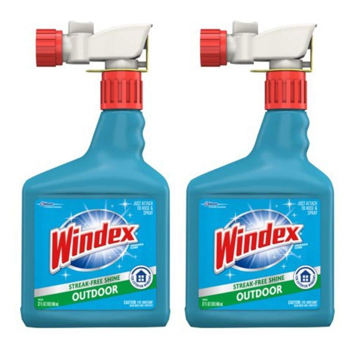 Windex Outdoor Sprayer, Blue Bottle, 32 fl oz (Pack of 2)