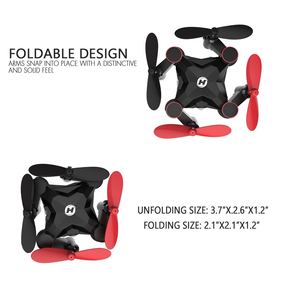 Holy Stone HS190 Foldable Mini Nano RC Drone for Kids Gift Portable Pocket Quadcopter with Altitude Hold 3D Flips and Headless Mode Easy to Fly for Beginners by Holy Stone (Image #2)