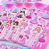 LSPLSP Schoonheid Prinses Aankleden Stickers Voor Meisjes 3D Dressup Sticker Speelgoed Kinderen Kids Verjaardag Party…