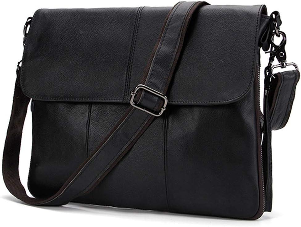 Bolso de Hombro Cuero Bolso de Mensajero Crossbody Bag para Trabajos Negocios BAIGIO Bandolera Hombre Piel Vintage
