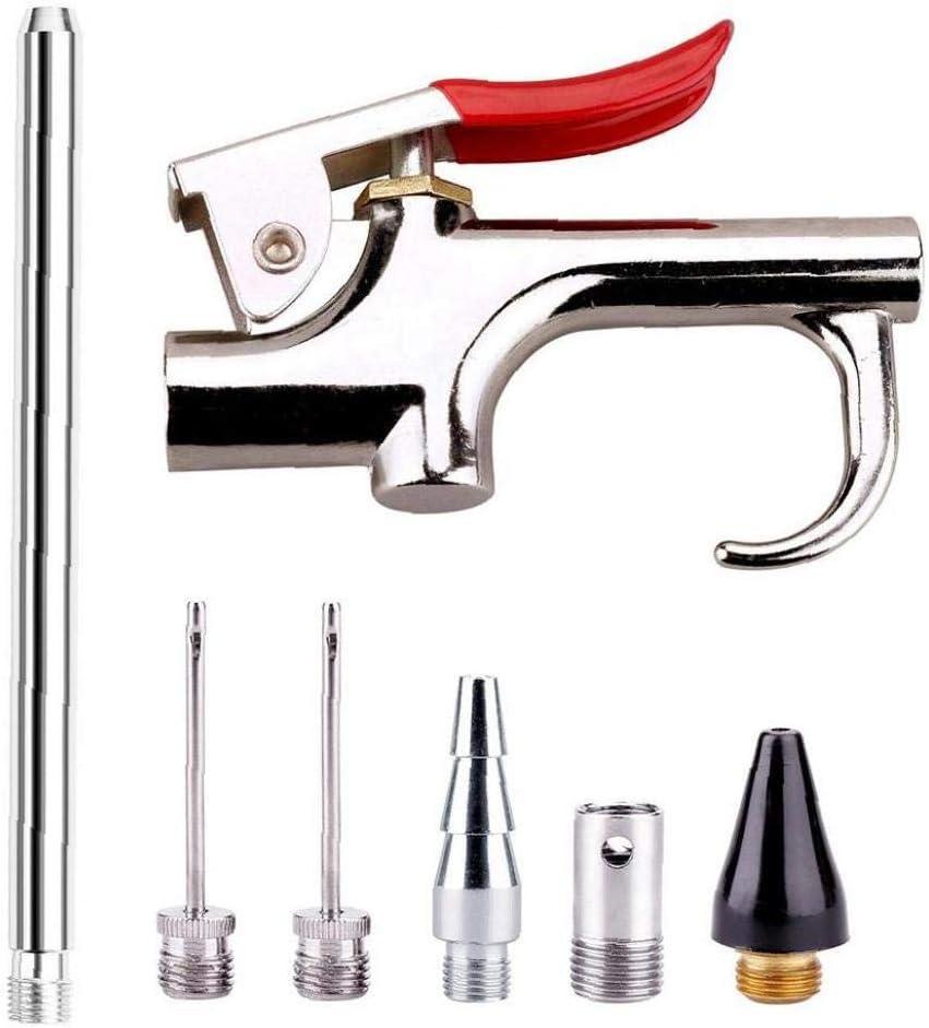 Uayasily Boquilla de Aire Pistola de Aire comprimido con compresor de Aire Kit de Herramienta de los Accesorios de Limpieza en Polvo 6 boquillas Intercambiables neum/ática