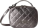 LOVE Moschino Women's Embossed Crossbody Silver One Size
