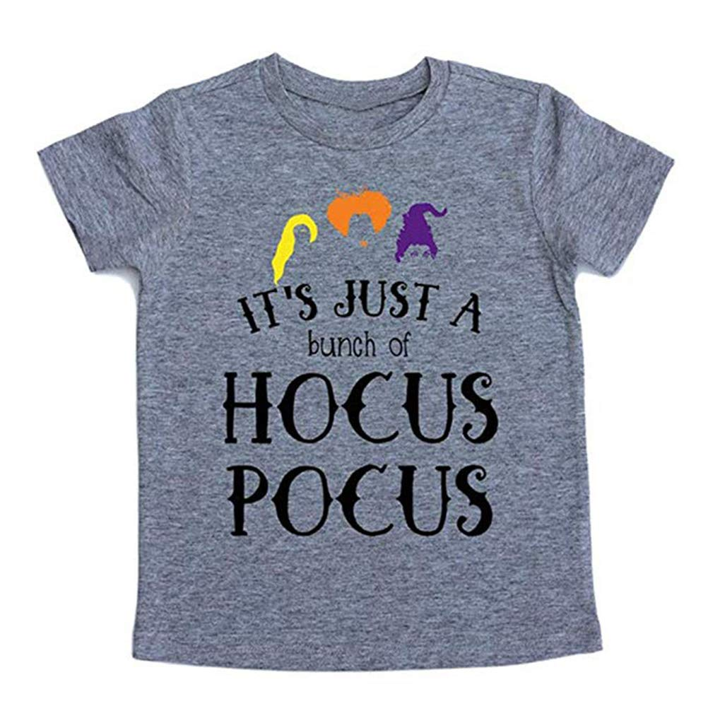 UNIQUEONE Baby Girls Boys It's Just A Bunch of Hocus Pocus Halloween T Shirt Sanderson Sister Graphic Print Tee Shirts Gray by UNIQUEONE