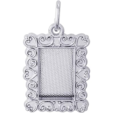 Amazon.com: Rembrandt Charms Frame Charm, Sterling Silver: Jewelry