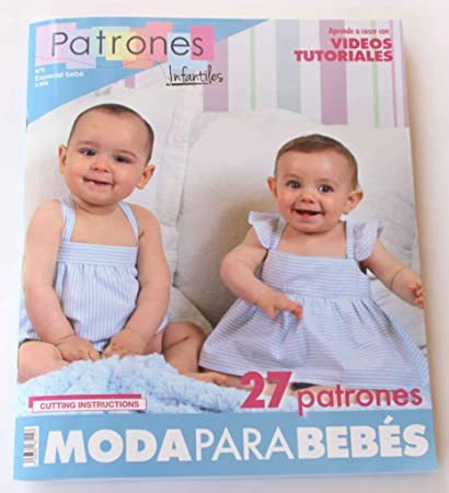 Revista patrones de costura infantil, nº 2. Especial bebé, 27 modelos de patrones, Cutting instructions.: Amazon.es: Hogar