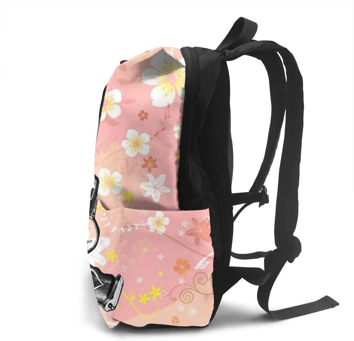 ETeebag Des-tiny Unisex Full Print Schoolbag Cool Teenager White One Size.