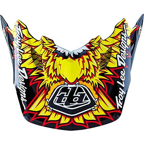 - Troy Lee Designs Adult SE3 Visor Flight Off-Road Helmet Accessories - Black/Yellow / One Size