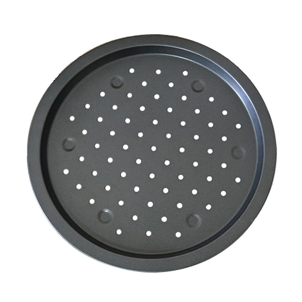 Lautechco 14 inch Large Size Non Stick Round Pizza Oven Pan Baking Tray Carbon Steel Tin Tools
