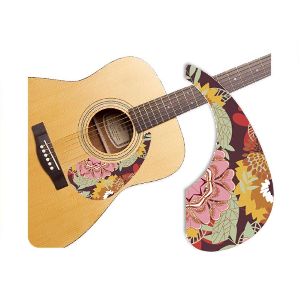 [Healing Shield] Basic Type Flower-A プレミアム アコースティックギターピックガード   B00JB3F958