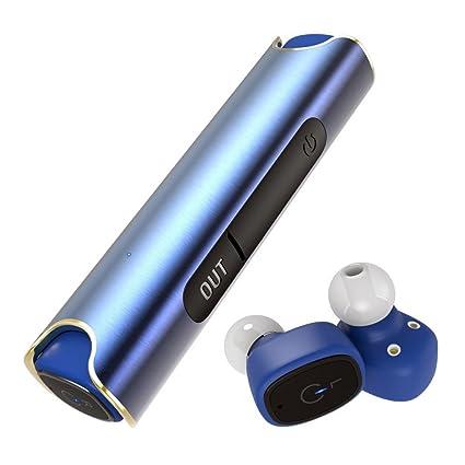 Bluetooth Auriculares Bluetooth Auriculares Estéreo Mini auricular auriculares en Ear con ladekäst Chen y micrófono integrado