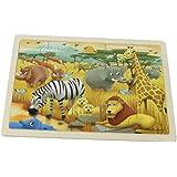 Masterkidz Safari Wooden Jigsaw Puzzle,Multicolor