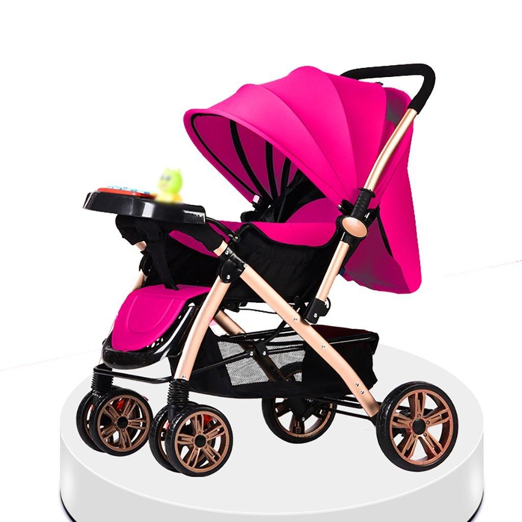 ベビーキャリッジ、折りたたみ自転車ベビーキャリー、ポータブルベビーベビーカー、1ヶ月から4歳までのベビーカーのトロリー、子供の歩行車 (色 : D) B07CZDX6JHD