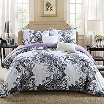 GOOFUN-L1K 3pcs Luxury Duvet Cover Set/Bedding Set(1 Duvet Cover + 2 Pillow Shams) Lightweight Microfiber Well Designed Print Pattern - Comfortable, Breathable, Soft & Extremely Durable,King Size