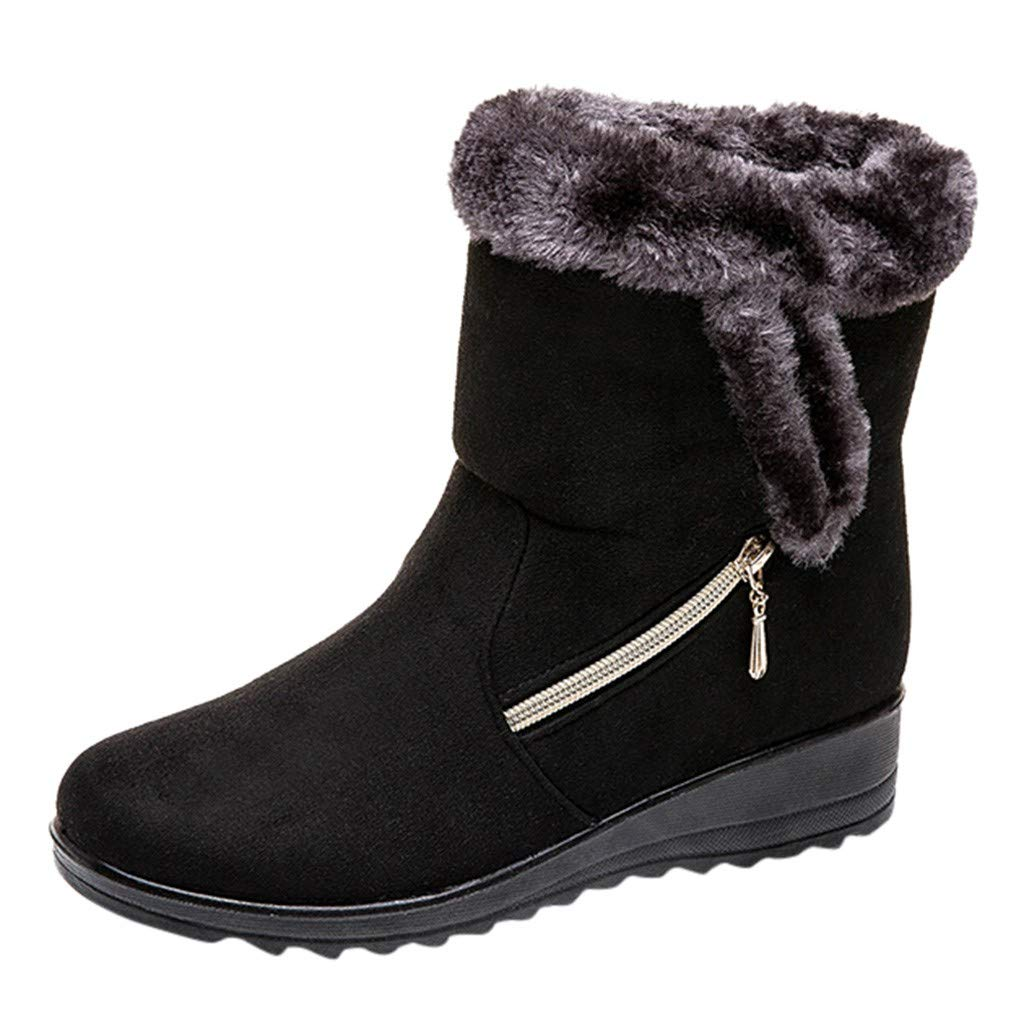 Respctfu✿ Women Warm Winter Boots Ankle Shoes Ladies Waterproof Snow Boots Casual Winter Shoes by Respctful_shoes