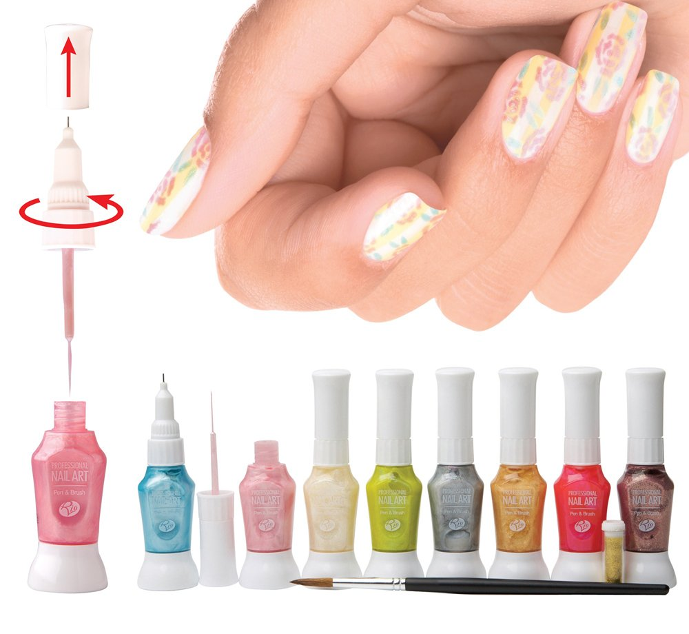 Rio Professional Nail Art Pens - Pastel Collection: Amazon.co.uk: Beauty