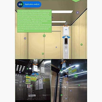 MMFXUE Purificador de Aire para ionizador de apartamento 99.97% de Rendimiento del Filtro Filtro HEPA | Filtro de carbón Activado | Catalizador frío | Ambientador/Elevador de Pared: Amazon.es: Hogar