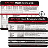SANNO Meat Smoking and Temperature Guide with Magnet for Grill or Refrigerator,Best Barbecue Grilling Accessories (BBQ Guide 2 Sets)