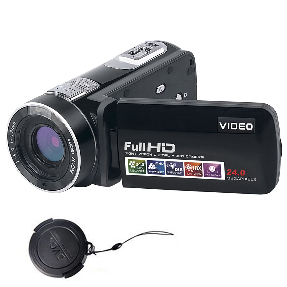 Camcorder Video Camera Full HD 1080P 24.0MP Digital Camera Camcorders Night Vision with Remote Controller …
