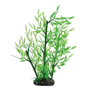 Sourcingmap Grun Kunststoff Bambus Gras Pflanze Dekoration
