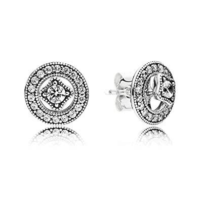 cf65f0a99 Pandora 290721CZ+BOX - Vintage Allure Stud Earring 2016 - in Set with Box:  Amazon.co.uk: Jewellery