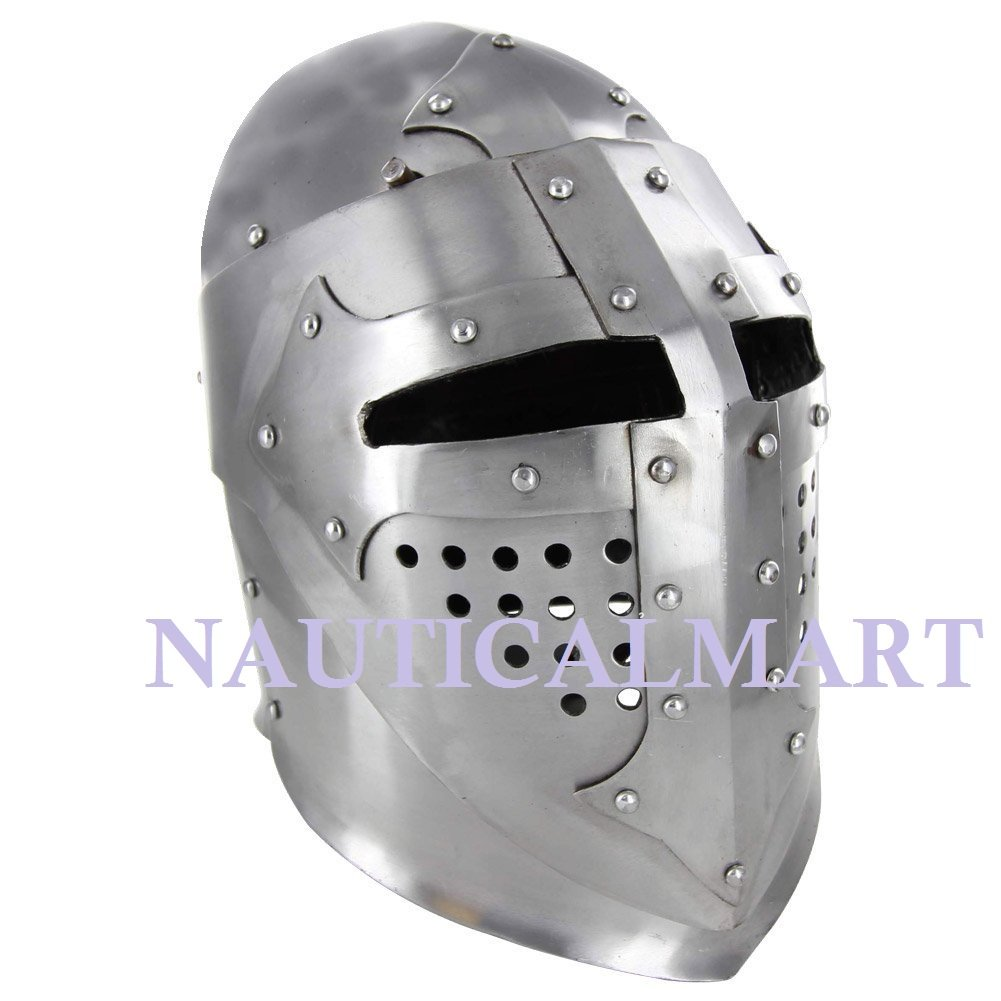 Medieval Knight Great Bascinet Kettle Armor Hat NAUTICALMART