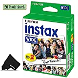 FujiFilm Instax Wide Instant Film 1 Pack of 20 Photo Sheets - Compatible with FujiFilm Instax Wide 300, 210 and 200 Instant Cameras