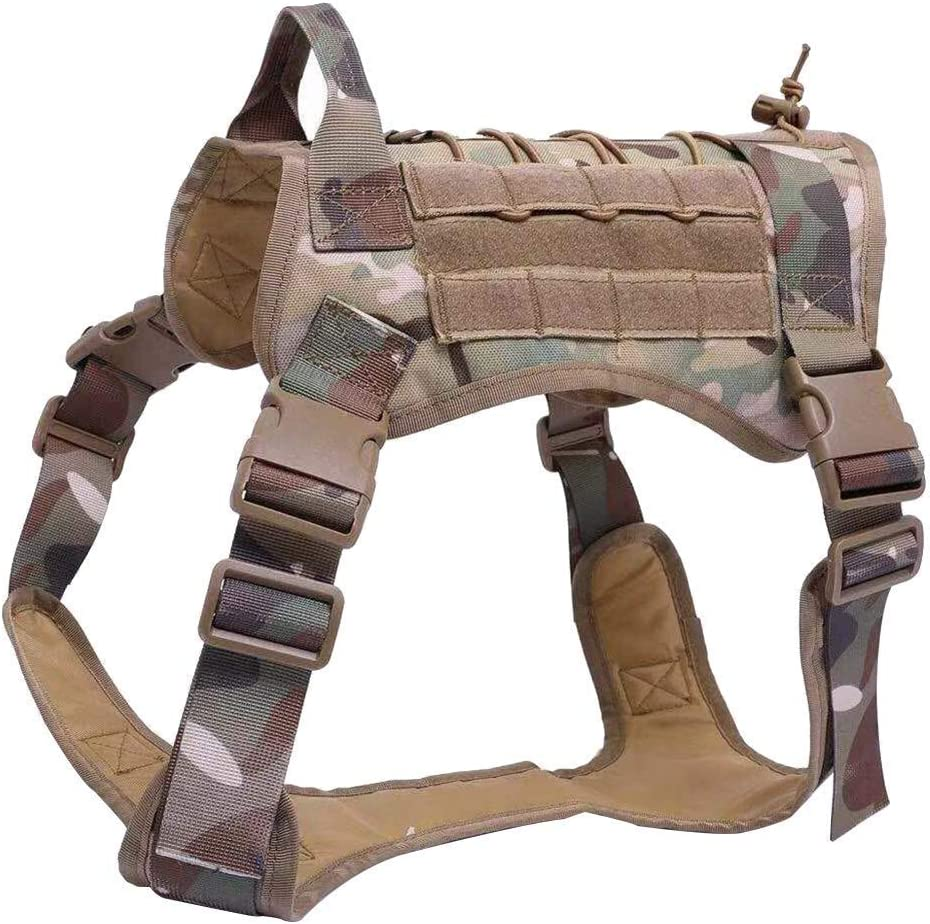 Qees GGBX03 Nylon 1000D Ultra r/ésistant Gilet-harnais de dressage pour chien Syst/ème Molle
