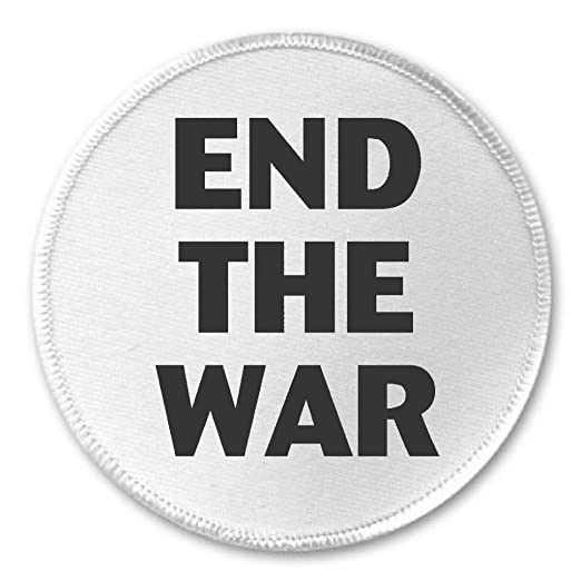 "Amazon. Com: end the war 3"" sew / iron on patch peace protest."